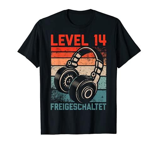 14. Geburtstag Jungen Video Gamer Level 14 Unlocked Jungs T-Shirt