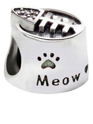 Abalorio para gato 'Meow ' 5478524 - Plata de ley 925