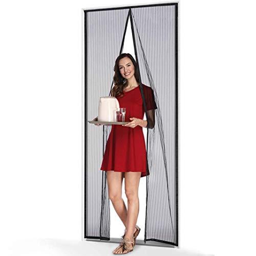Coedou Magnet Fliegengitter Tür Insektenschutz 105x220 cm, Der Magnetvorhang ist Ideal für die Balkontür, Kellertür Und Terrassentür, Kinderleichte Klebemontage Ohne Bohren