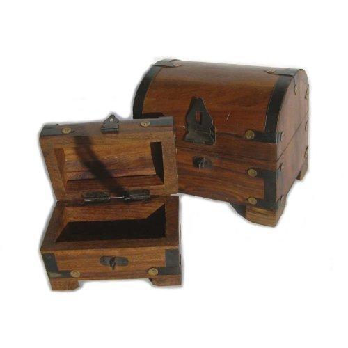 BestSaller 14 x 11 x 13 cm Coffre au trésor boîte (Petit, 2 pièces, Multicolore)