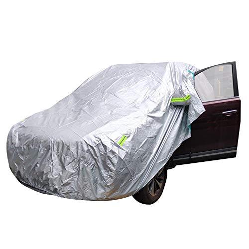 JXSMWH Universal SUV/Sedan Full Car Cover Outdoor Waterproof Sun Rain Snow UV Car Umbrella Silver Auto Case Cover S XXL