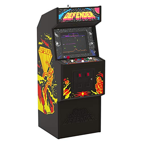 Hallmark Keepsake Christmas Ornament 2019 Year Dated Defender Arcade Game with Light and Sound