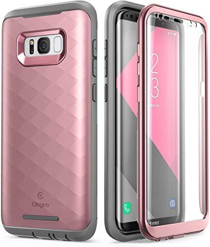 Clayco Galaxy S8 Hülle, [Hera-Serie] [Aktualisierte Version] Ganzkörper-Schutzhülle mit integriertem Displayschutz für Samsung Galaxy S8 (2017 Release)