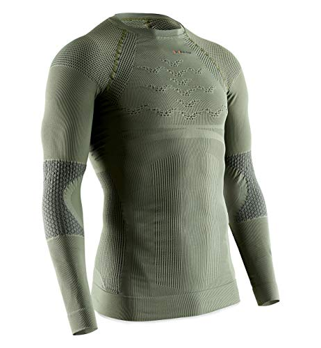 X-Bionic Hunt Energizer 4.0 Long Sleeve Men Chemise Homme, Vert (Olive Green/Anthracite), S