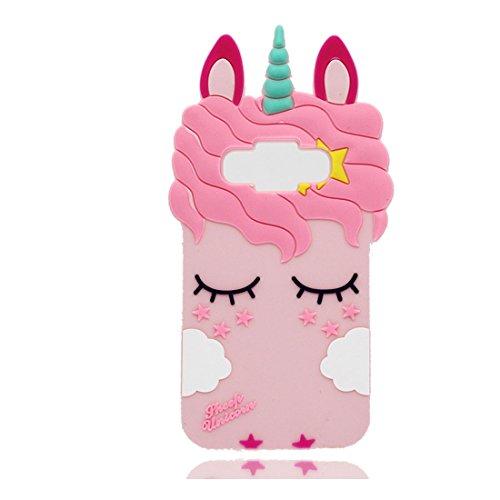 YuanYuZhongPhoneSky Samsung Galaxy J1 2016 Custodia, 3D Cartone Animato Animali Case di TPU Gel AntiGraffio in Silicone Copertura per Samsung Galaxy J1 2016, o