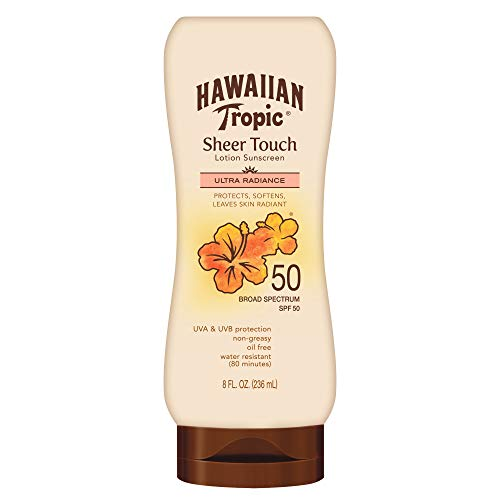 Hawaiian Tropic Sheer Touch Lotion Sunscreen, Moisturizing Broad-Spectrum Protection, SPF 50, 8...