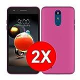TBOC 2X Coque Gel TPU Rose pour LG K8 (2018) - LG K9 (5.0 Pouces) [Pack: Deux Unités] en Silicone...