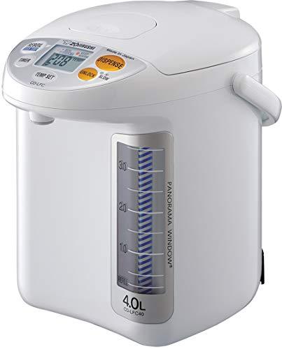 Zojirushi CD-LFC40 Panorama Window Micom Water Boiler and Warmer, 135 oz/4.0 L, White