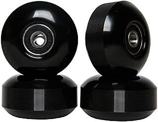 FREEDARE Skateboard Wheels with Bearings 52mm 98A Longboard Wheels (Black,Set of 4)