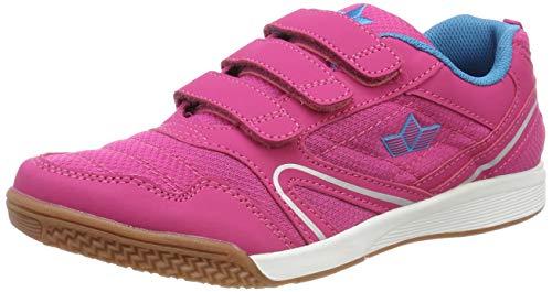Lico BOULDER V Unisex Kinder Sneaker, Pink/ Türkis, 36 EU