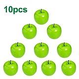 Stilvolle 10 Stück Künstliche Grüne Äpfel Obst Küche Office Home