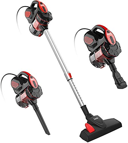 Corded Vacuum Cleaner, INSE I5 Stick Vacuum Cleaner 18KPA Powerful Suction with 600W Motor, 3 in 1 Handheld Vacuum for Pet Hair Hard Floor Home