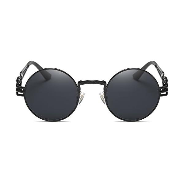 Dollger John Lennon Round Sunglasses Steampunk Metal Frame