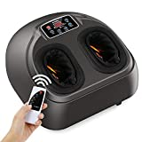 Shiatsu Foot Massager Machine, Arealer Deep Kneading Massager with Remote Control, Circulation,Heat Function
