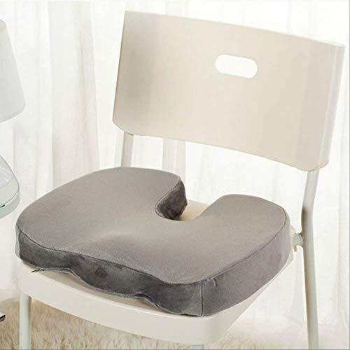 Memory Foam U Seat Massage Chair Cushion Pad Travel Seat Cushion Orthopedische Car Office Massage kussen 45 x 35 cm grijs