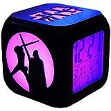 Ap&Exclusive スターウォーズ3Dステレオ目覚まし時計ミュートLEDナイトライトファッションクリエイティブ電子7色目覚まし時計-USB充電 (led)