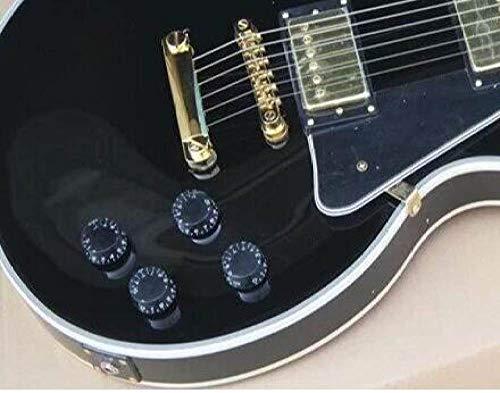 LOIKHGV Benutzerdefinierte Gitarre Hochwertiges Musikinstrument Ebenholz Griffbrett schwarz E-Gitarre 2,41 Zoll