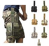Gexgune Neue Taktische Molle Doppel M4 5,56mm Magazin Tasche Tasche für Airsoft Paintball Drop Leg Panel Utility Beutel Camouflage Tasche (7 Farben optional)