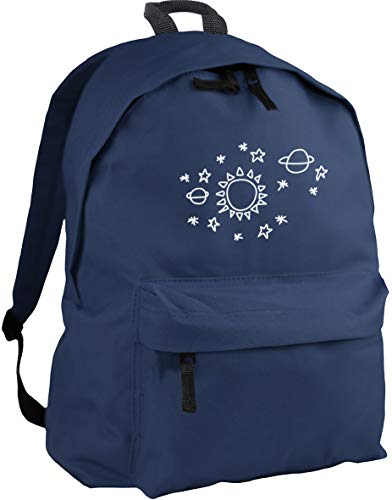 HippoWarehouse Sun star pattern backpack ruck sack Dimensions: 31 x 42 x 21 cm Capacity: 18 litres