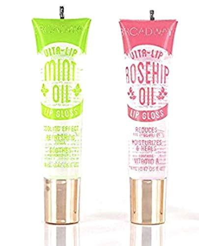 Broadway Vita-Lip Clear Lip Gloss 0.47oz/14ml (2PCS - Mint and Rosehip Oil)