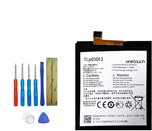 Upplus Batería de repuesto TLP030F2 TLp030F1 compatible con BlackBerry DTEK60, Alcatel One...