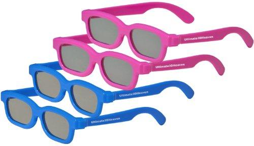 4 Pack KIDS CINEMA 3D GLASSES For LG 3D TVs – 4 TOP QUALITY...