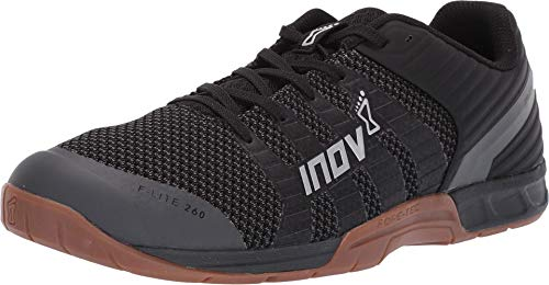 Inov-8 F-Lite 260 Knit - Multipurpose Cross Training Shoes - Athletic Shoe for Gym, Training and Weight Lifting - Wide Toe Box - Black/Gum 12 M UK