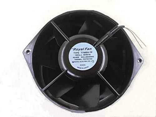T750DX-TP Royal-Fan 170mm 100V Fan - 17055 43/40W 50/60HZ 2-Wire All Metal Fan
