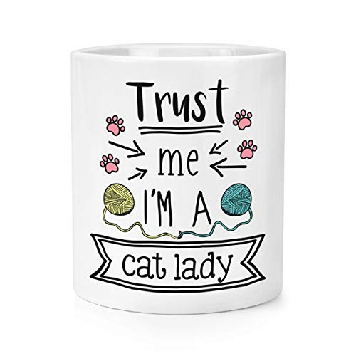 Trust Me I'M A Chat Lady Maquillage Brosse Crayon Pot