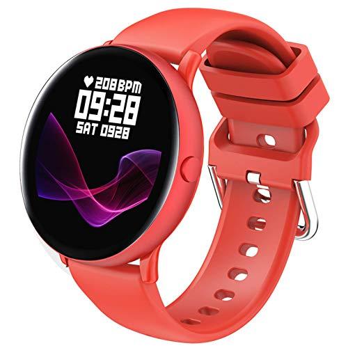 ZHENAO Women Sports Smart Watch, 1.09 '' Pantalla Táctil Redonda Ip67 Actividad de Bluetooth a Prueba de Agua Smartwatches Monitor de Ritmo Cardíaco Monitor Fitness Tracker Step Cou