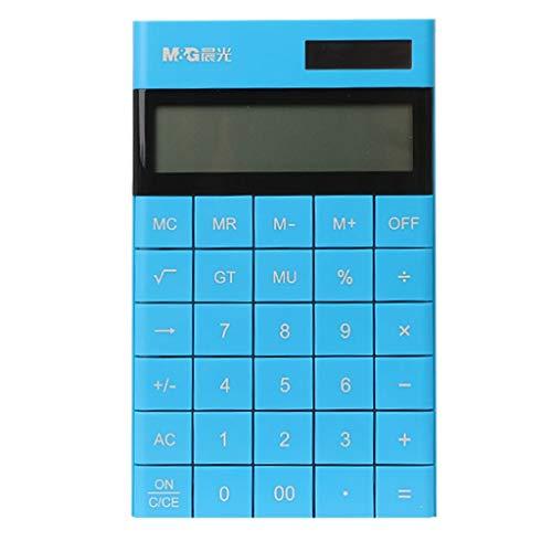 Calculadoras Calculadora de múltiples Funciones de Contabilidad y calculadora financiera for Estudiantes de la calculadora de la Tableta portátil for Office (Color : Blue)