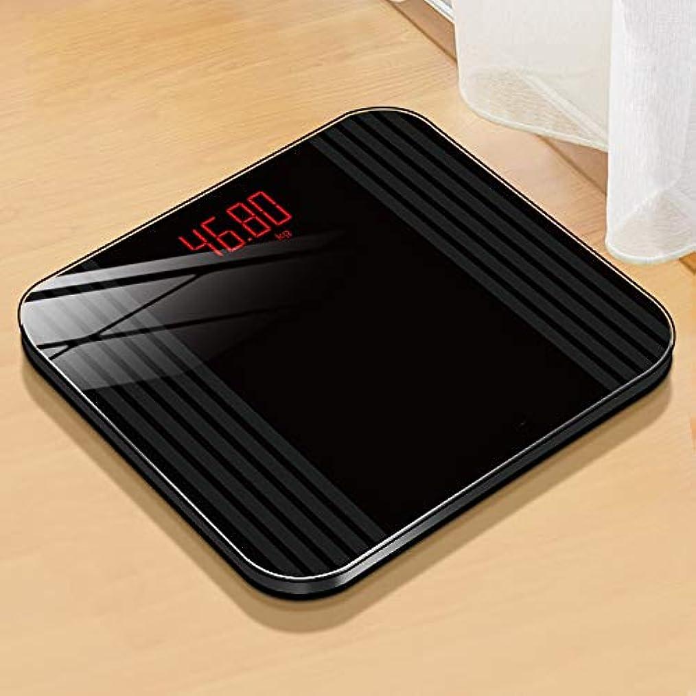 高めるまどろみのあるスケジュールスマート充電電子小規模、女性の家庭用ボディ正確な脂肪損失の重量を量る脂肪 - 11x11inch LJKHFD (Color : Black)
