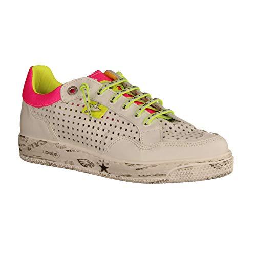 Cetti Sneaker Größe 39, Farbe: Sweet White-Fucsia-Yellow
