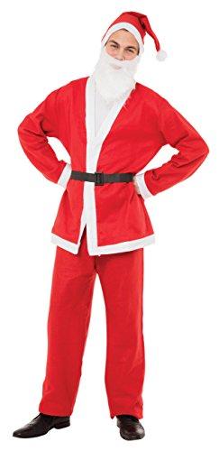 Bristol Novelty AC463Papá Noel Suit Disfraz, rojo, pecho tamaño 28