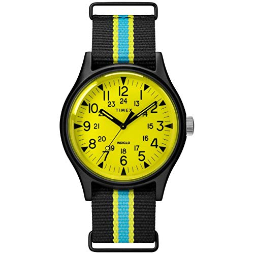 Timex MK1 Aluminum California Yellow Dial Canvas Strap Men's Watch TW2T25700
