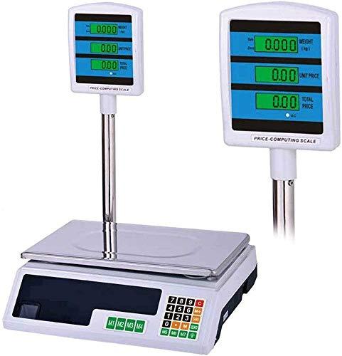 Comprare Web - BILANCIA ELETTRONICA DIGITALE FRONTE RETRO PROFESSIONALE MAX 40 KG CALCOLO DEL PREZZO