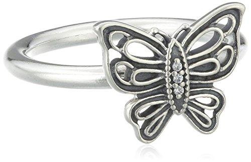 Pandora mariposa anillo en plata de ley, talla 56(P) 190901CZ-56