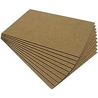 Chely Intermarket tablero madera MDF 50X70 cm 2,5mm (Pack-4 tableros), fabricado a partir de fibras de maderas. Especial para cortes con láser, CNC y Calado.