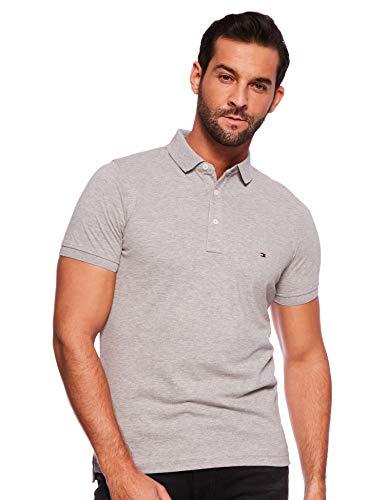Camisa Polo Masculina Tommy Hilfiger Logo Cinza