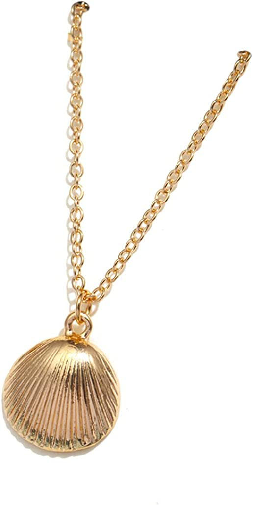 SONTONXON Boho Shell Pendant Necklace for Women Long Chain Round Charm Statement Choker New Collares Necklace Wedding Jewelry