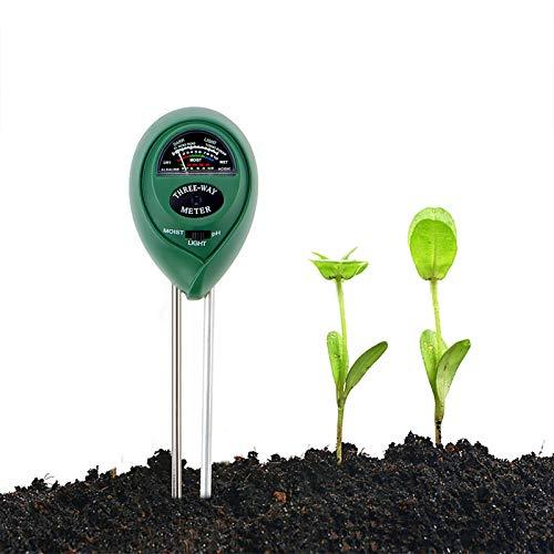 Abafia Medidor de Suelo, Humedad del Suelo 3 en 1 Medidor de PH Medidor de Luz/Humedad/Ácido y Álcali para Plantas de Suelo/Flor/Césped en Interior o Exterior