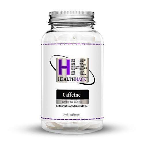 Health Hack Koffein, 200 mg, 250 Tabletten