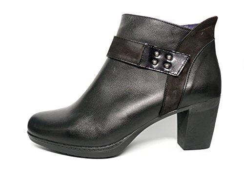 Botín tacón cómodo Dorking-Fluchos - Piel Disponible en Colores Cuero y Negro - 6977-71 y 74