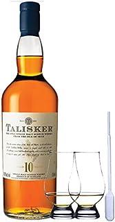 Talisker 10 Jahre Isle of Skye Single Malt Whisky 0,7 Liter  2 Glencairn Gläser und Einwegpipette