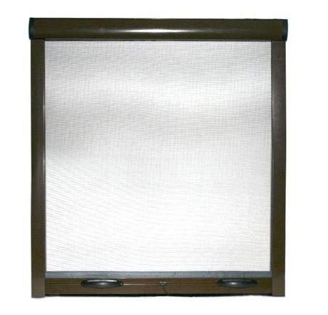 Mosquitera enrollable para ventanas correderas vertical reducible 8017 marrón