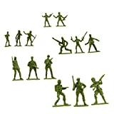 Fun Central 144 Pack Toy Soldiers Figures, Green Army Men Toy Soldiers Action Figures for Kids