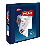Avery Heavy Duty View 3 Ring Binder, 2' One Touch EZD Ring, Holds 8.5' x 11' Paper, 1 Navy Blue Binder (79802)