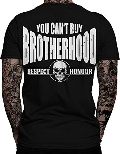 You Can\'t Buy Brotherhood Biker Herren T-Shirt | Chopper | Respect | Honour | Biker | Motorrad | Biking| Statement | Bobber | Respekt | Ehre | Herren | Männer T-Shirt