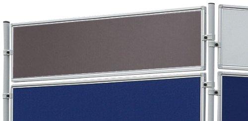 Franken EL-UTF30 12 Textiltafel Eco (beidseitig verwendbar, 120 x 30 cm) grau