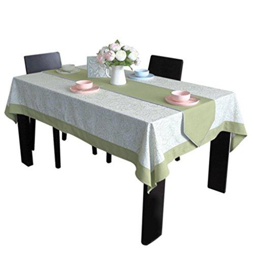 Nappe nappe thé nappe nappe verte à manger nappe américaine fraîche impression (Size : 135 * 160cm)
